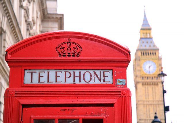 Londen Tower en telefooncel